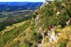 Blick vom Felsfuss in Kroatien