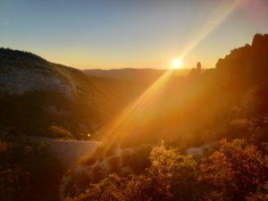 Sonnenuntergang Vela Draga Kroatien